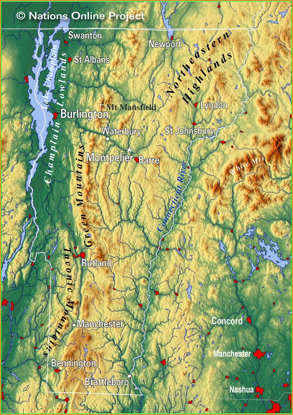 Vermont Topographic Map Free