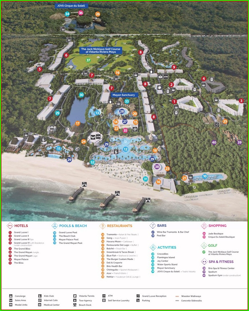 Vidanta Riviera Maya Resort Map