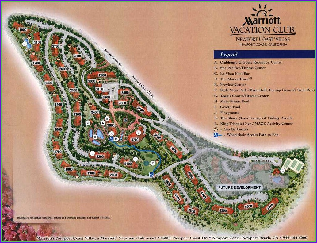 View Marriott Newport Coast Villas Map
