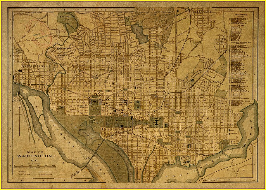 Vintage Washington Dc Map