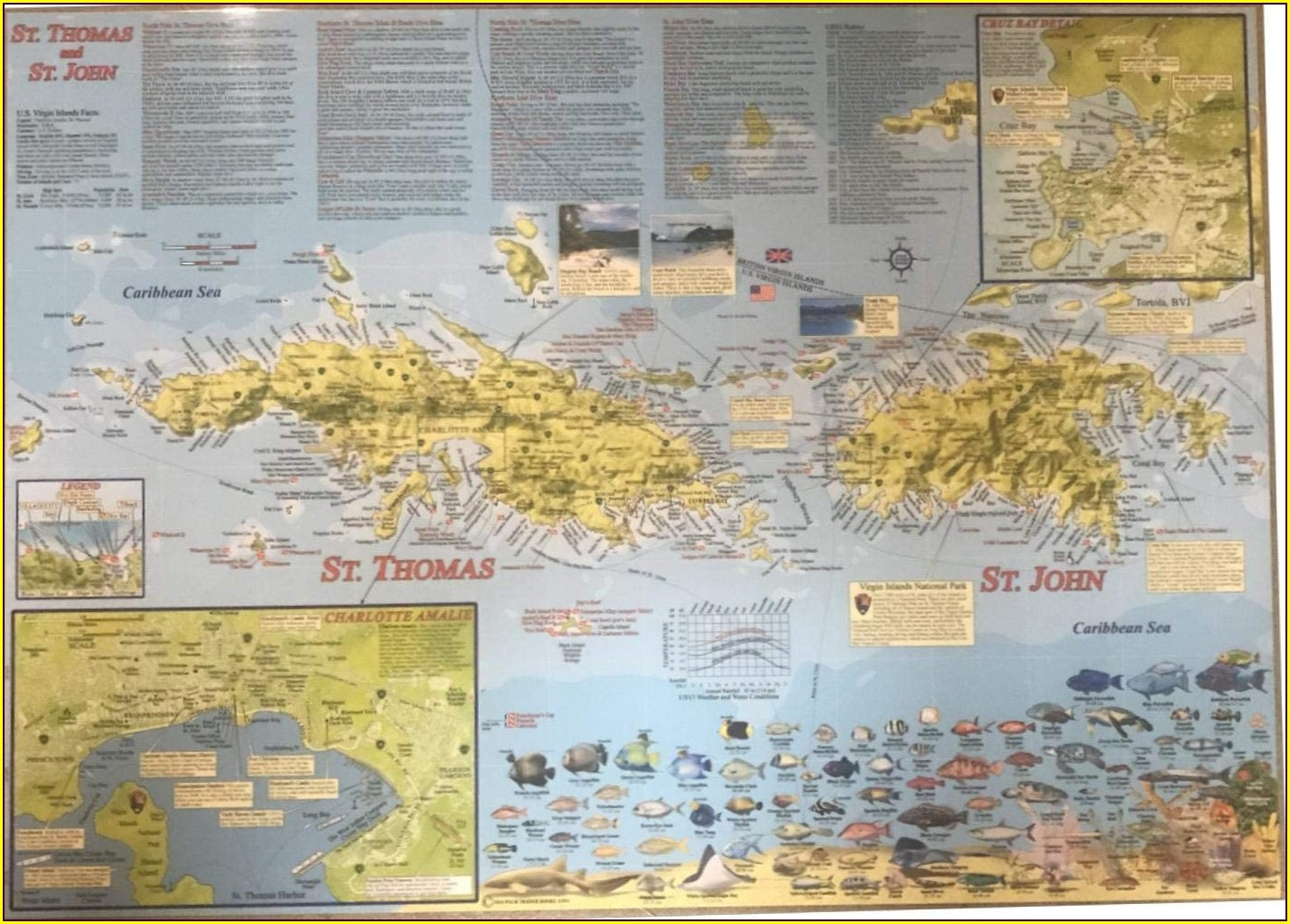 Virgin Islands Map Poster