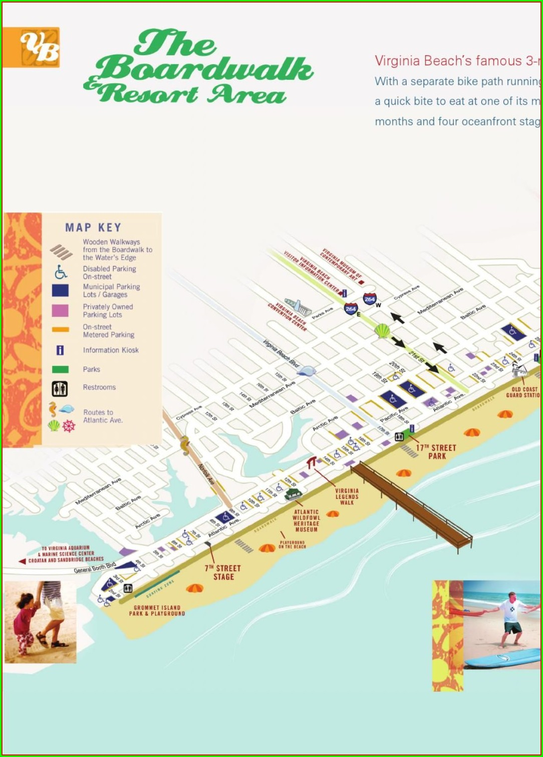 Virginia Beach Boardwalk Hotels Map