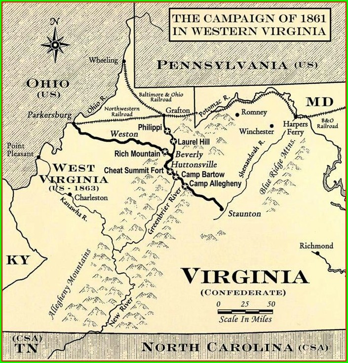 Virginia Map Before Civil War