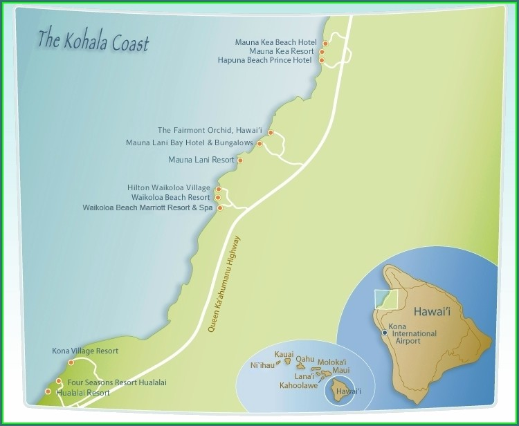 Waikoloa Beach Resort Map