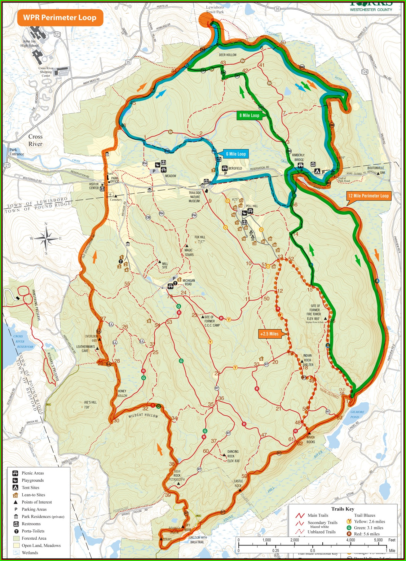 Ward Pound Ridge Camping Map
