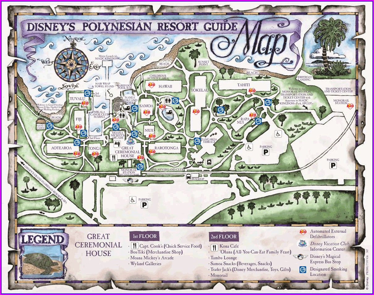 Wdw Polynesian Resort Map