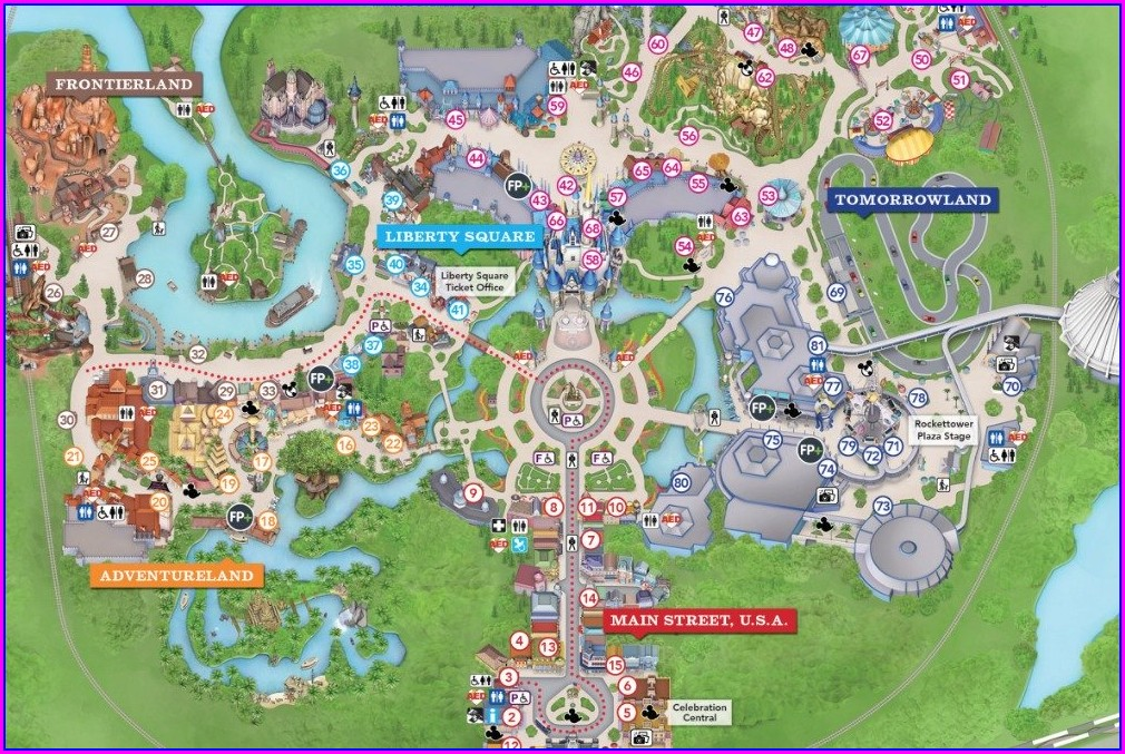 Wdw Resort Map Pdf