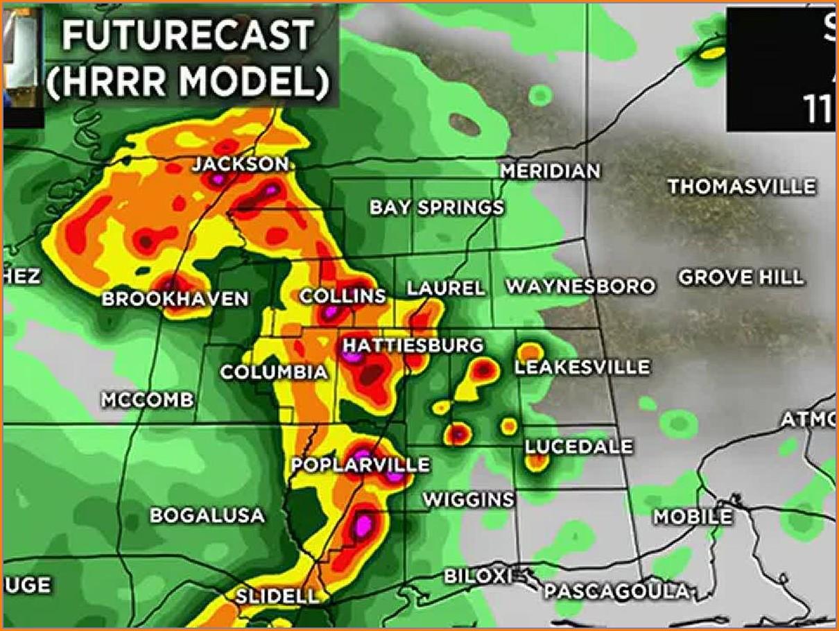 Weather Radar Map For Sunday