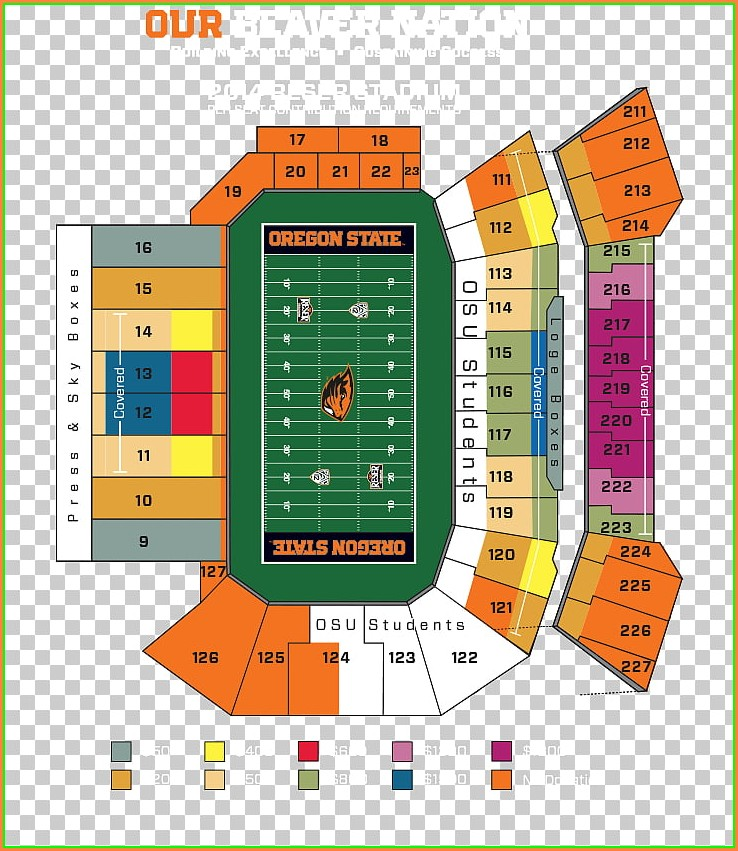 Wells Fargo Seat Map
