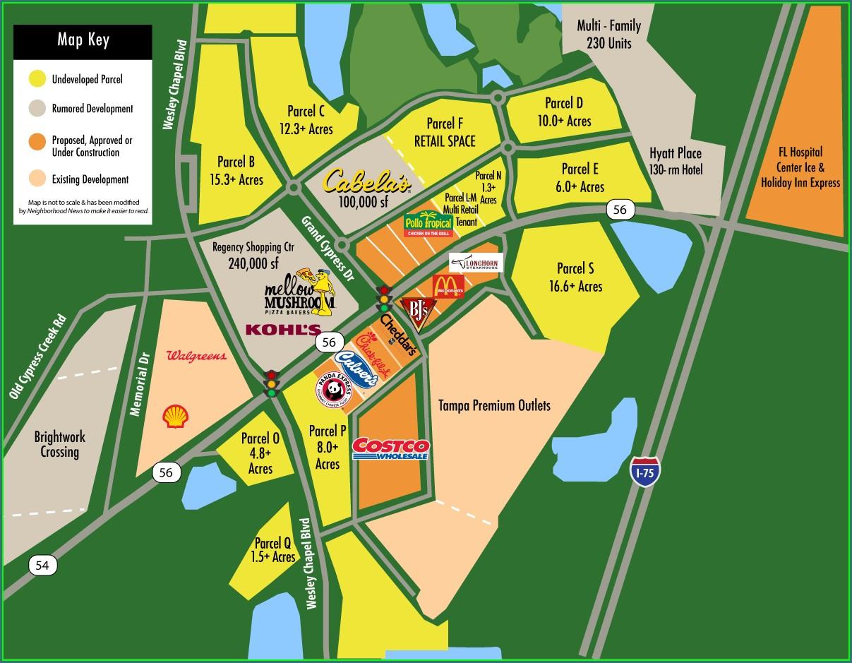 Wesley Chapel Development Map 2019