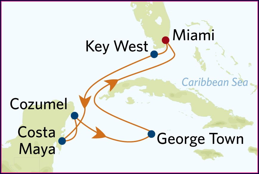 Western Caribbean Cruise Map Celebrity