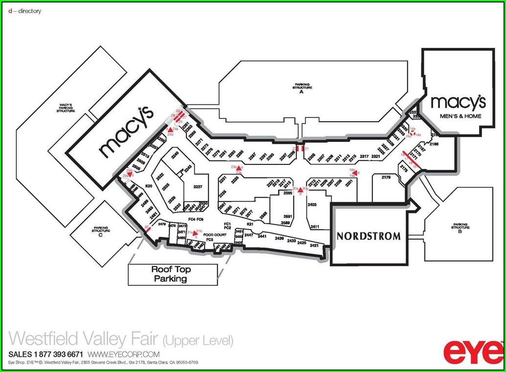 Westfield Mall San Francisco Map