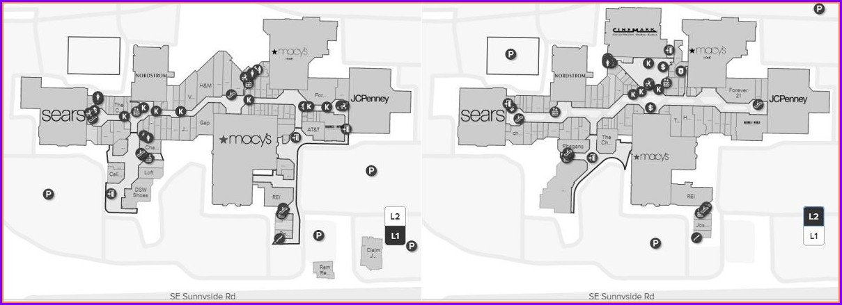 Westfield Old Orchard Mall Map