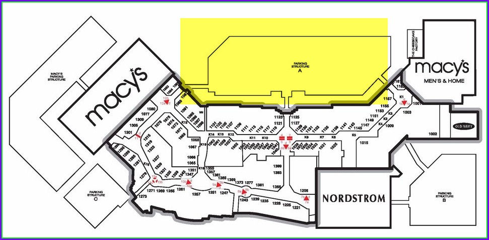 Westfield Valley Fair Mall Map