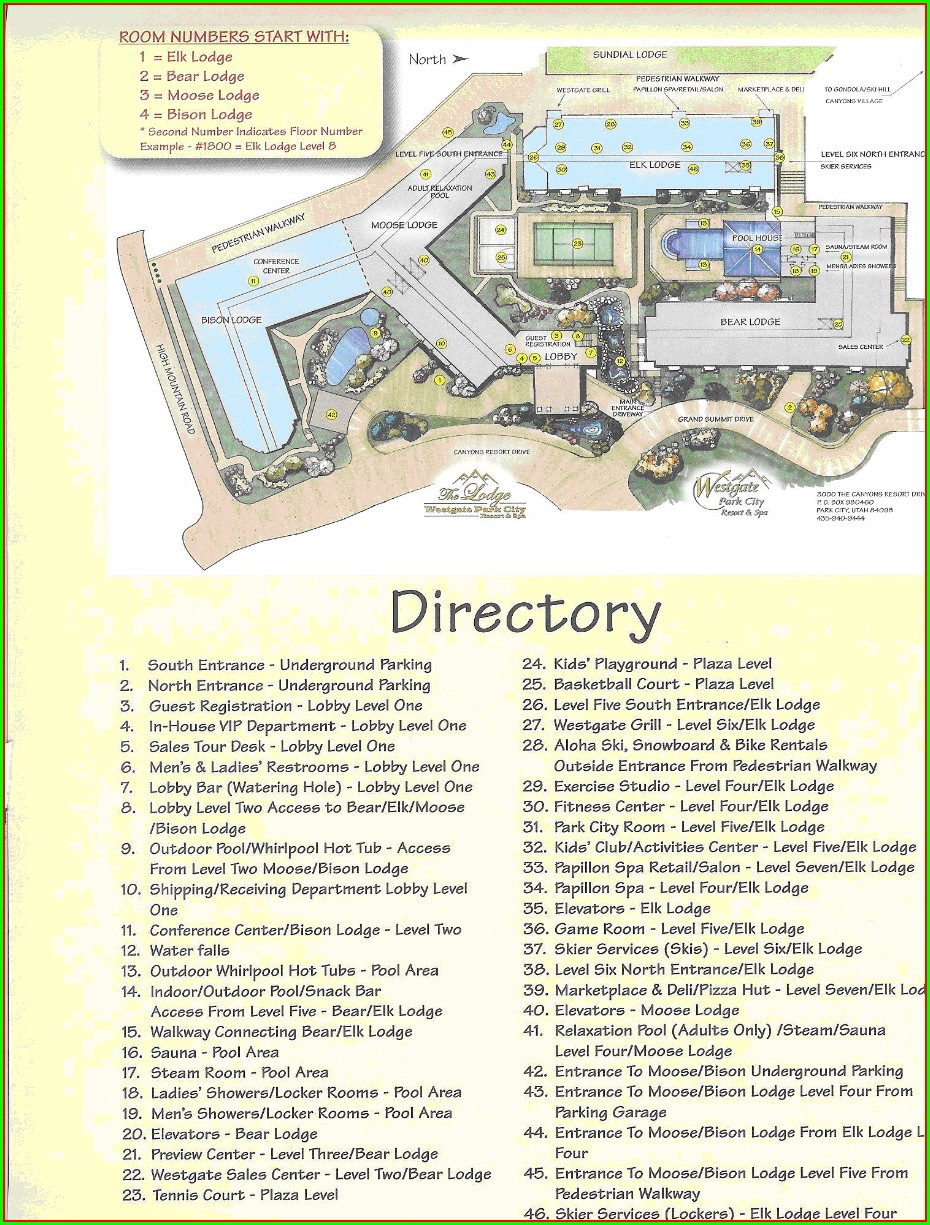 Westgate Vacation Villas Map