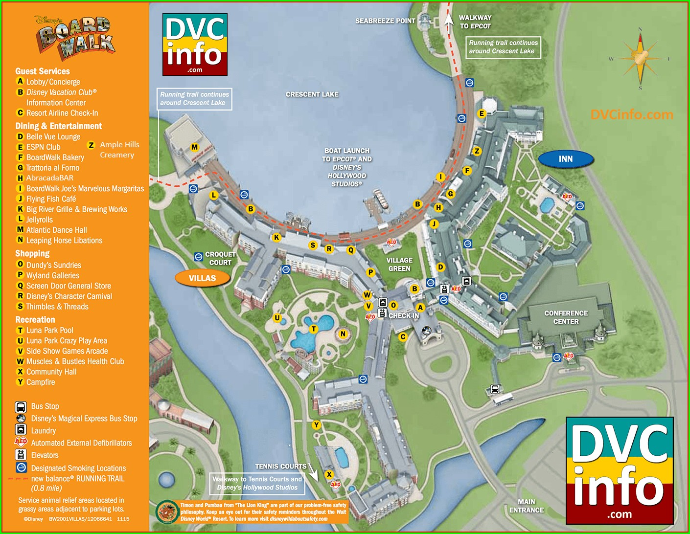 Westgate Vacation Villas Resort Map