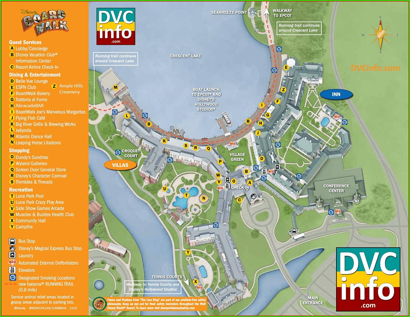 Westgate Vacation Villas Resort Map