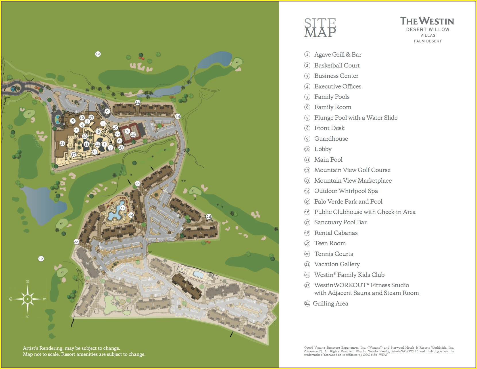 Westin Desert Willow Villas Map