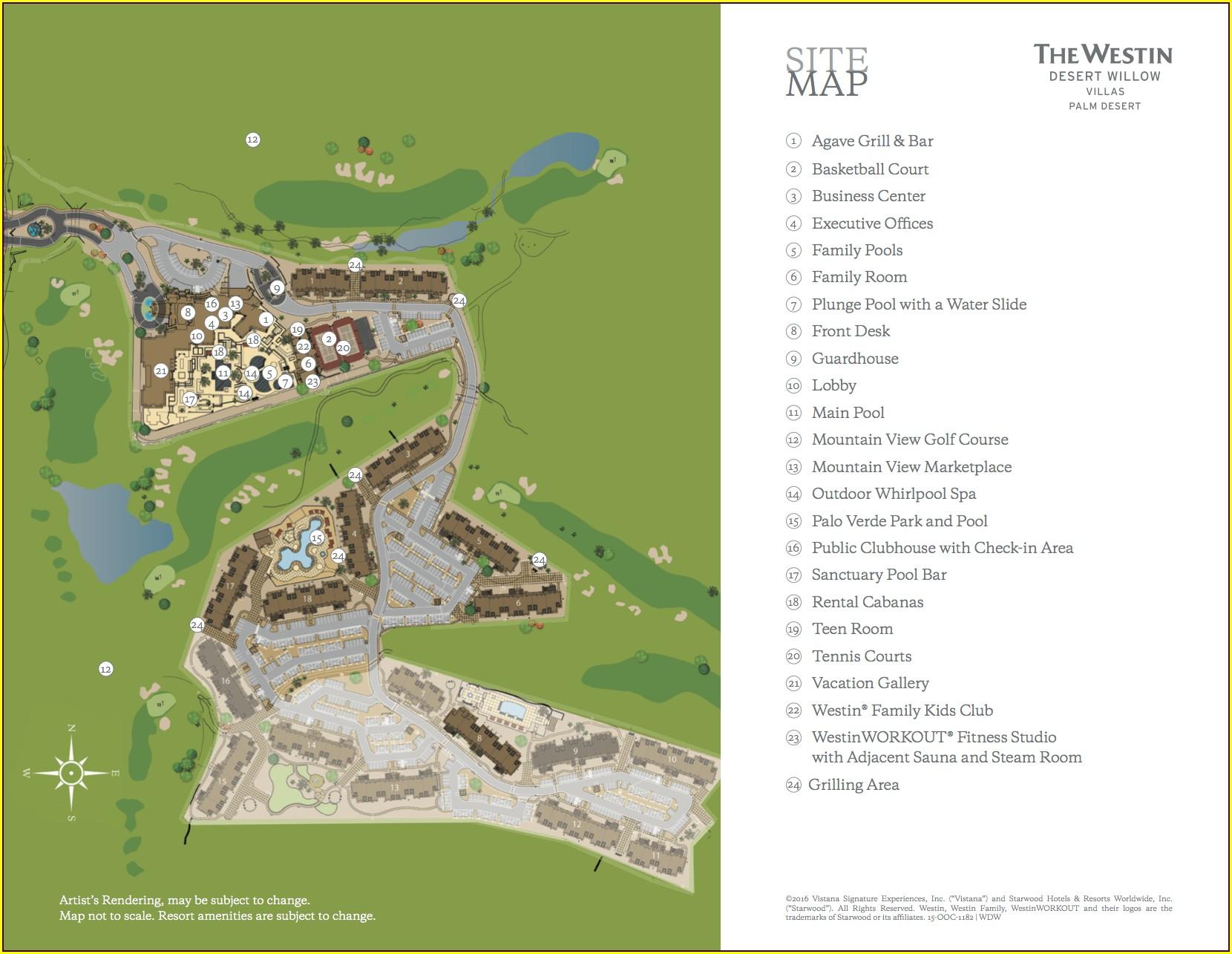 Westin Desert Willow Villas Map