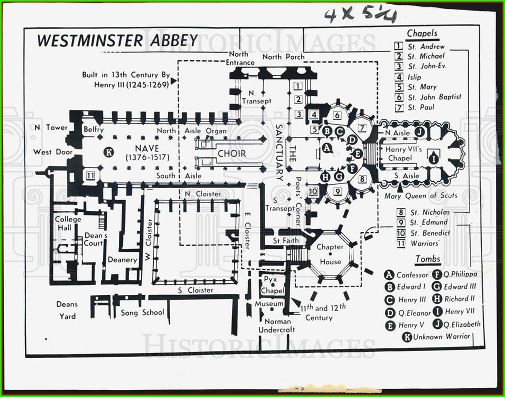 Westminster Abbey Entrance Map