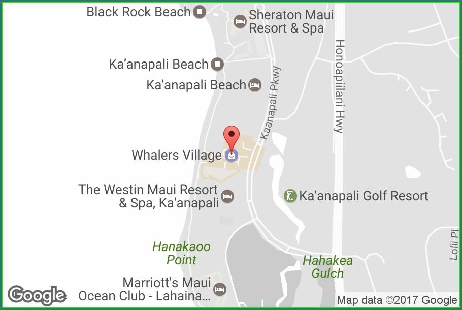 Whalers Village Map Maui