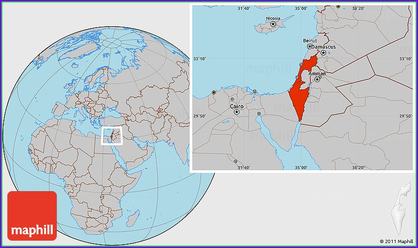 Where Is Israel Located On The World Map