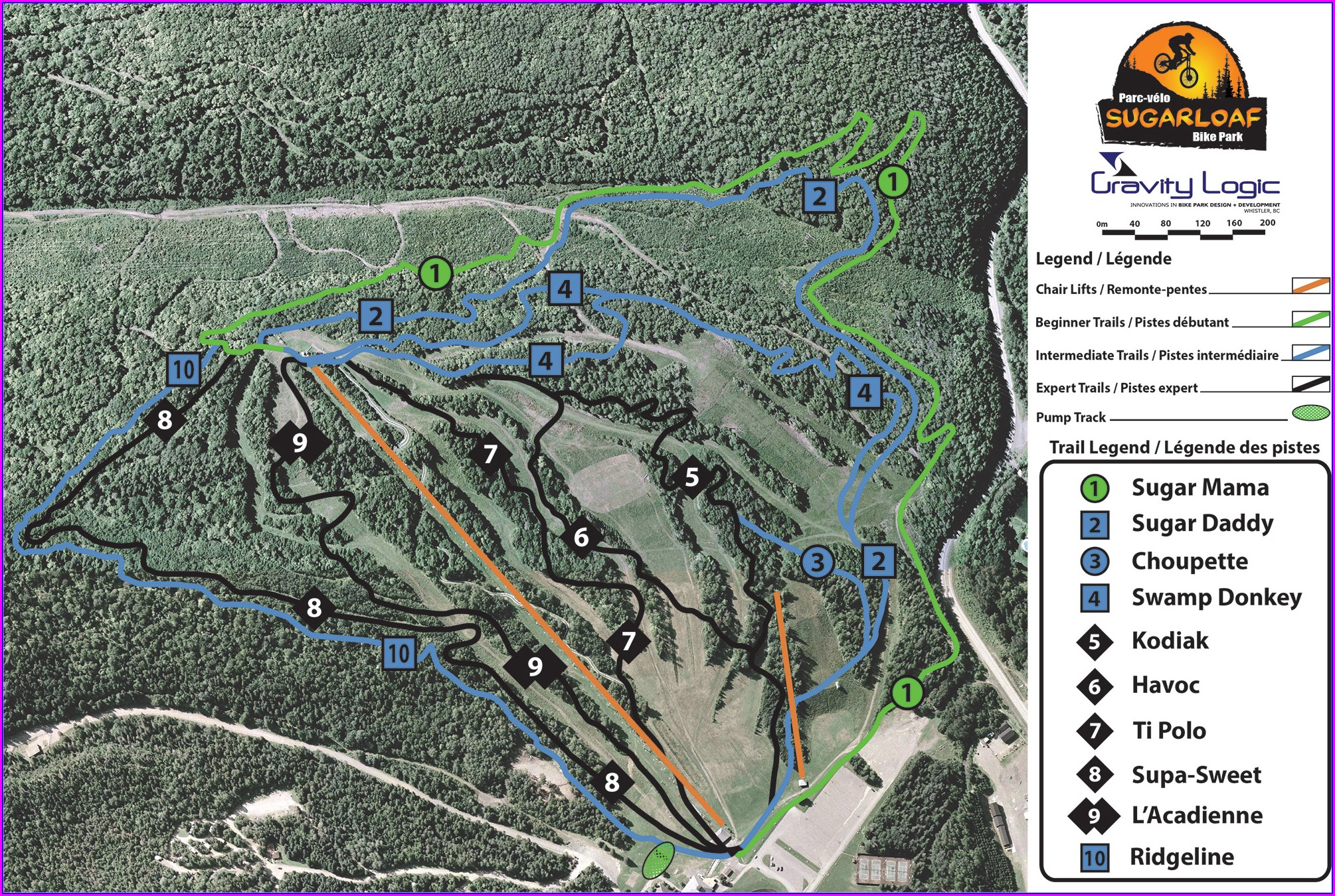 Whistler Bike Park Map 2018