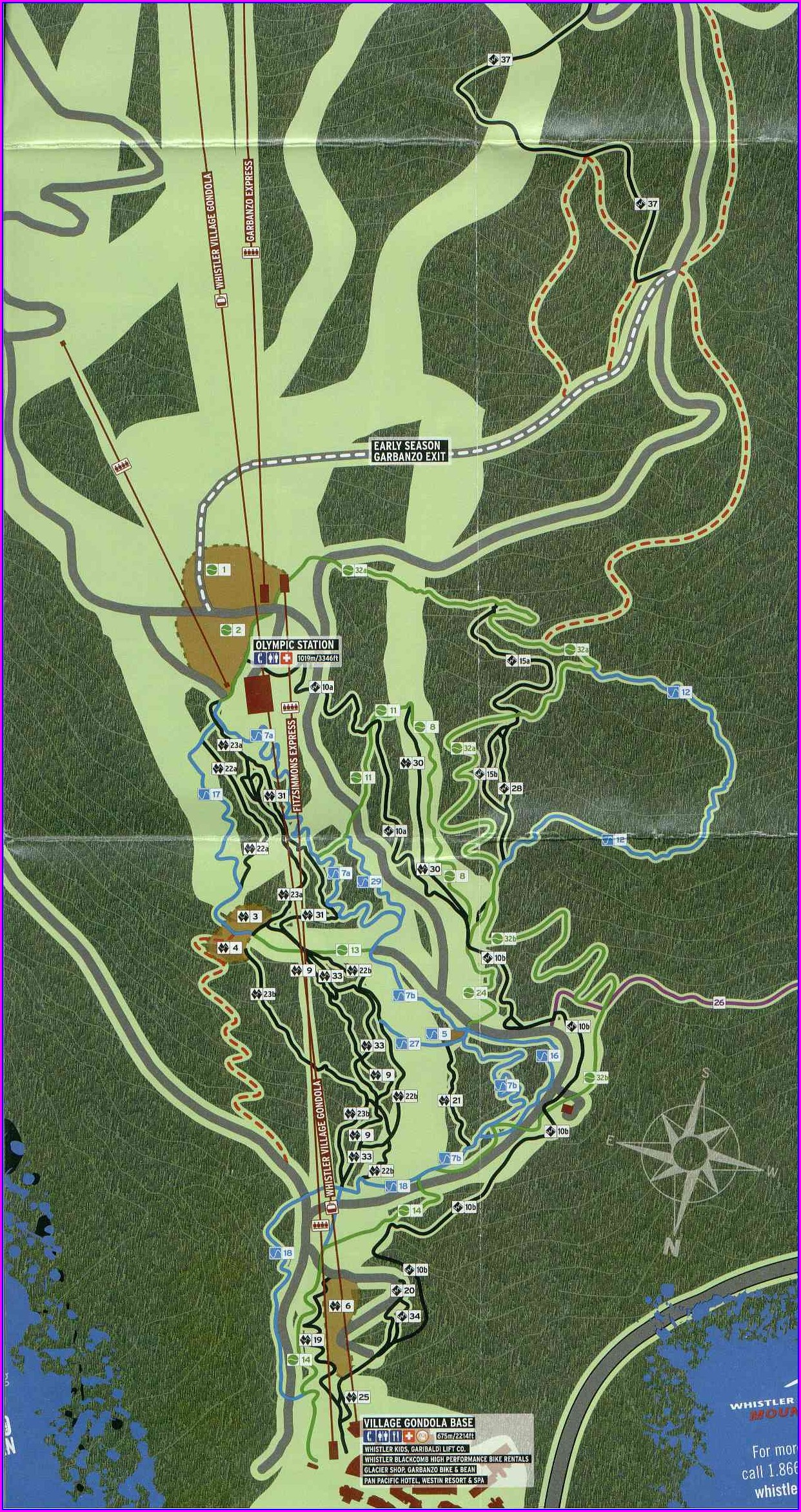 Whistler Bike Park Map