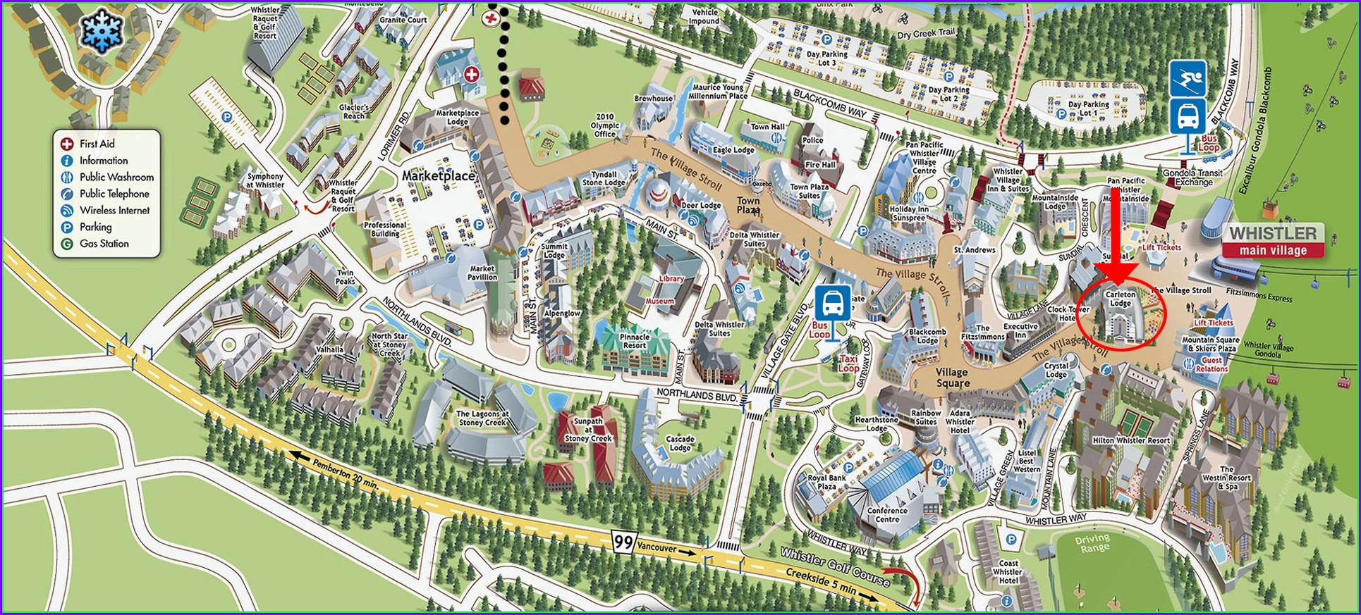 Whistler Blackcomb Village Map