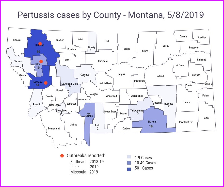 Whooping Cough Outbreak 2018 Map