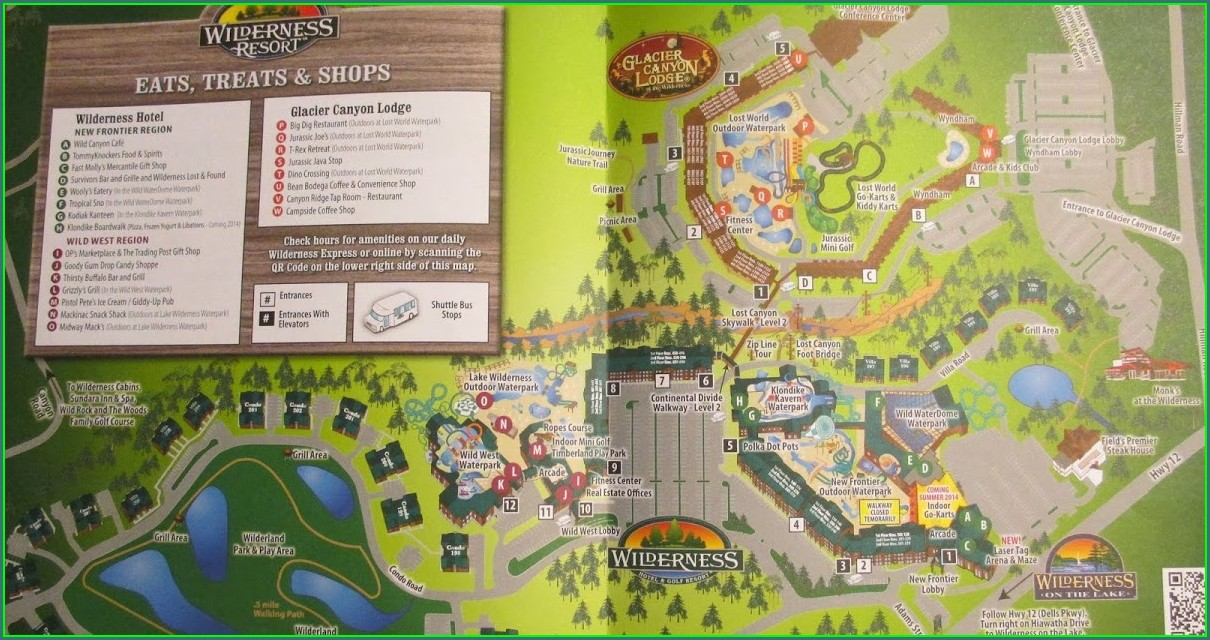 Wilderness Lodge Wisconsin Dells Map