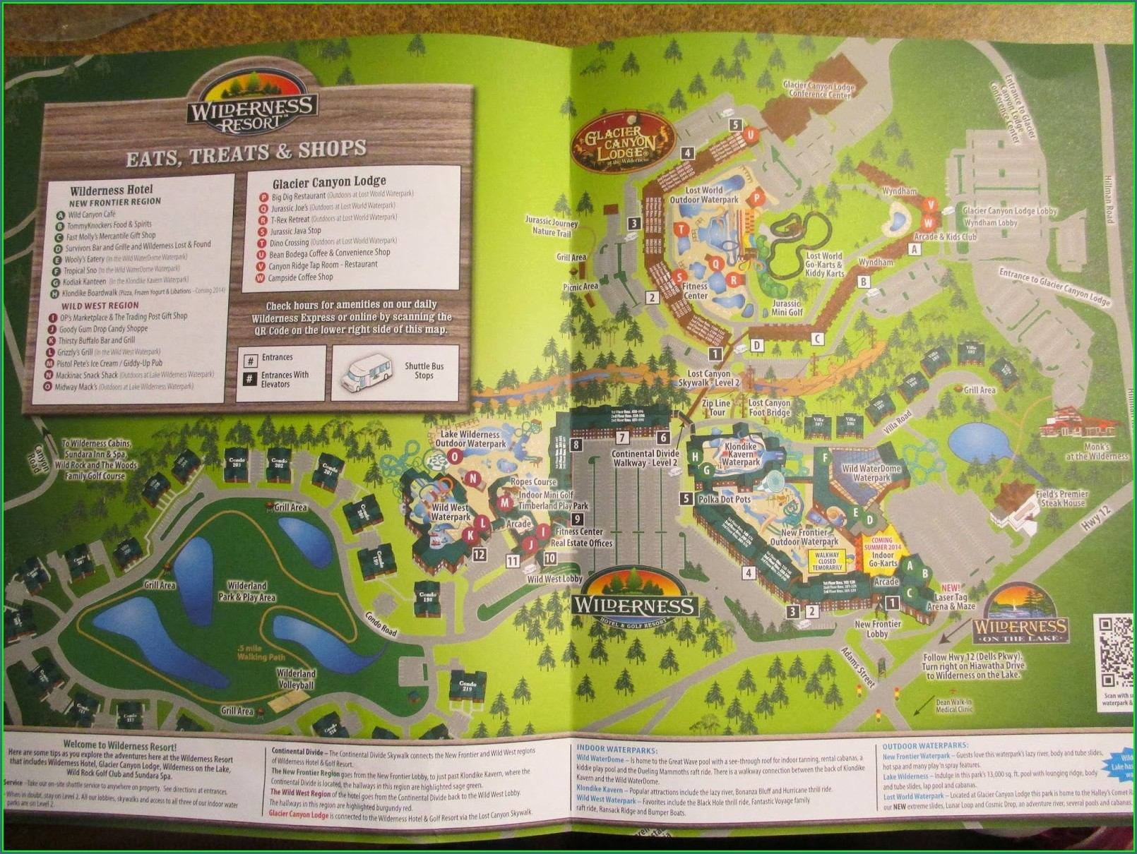 Wilderness Wisconsin Dells Map