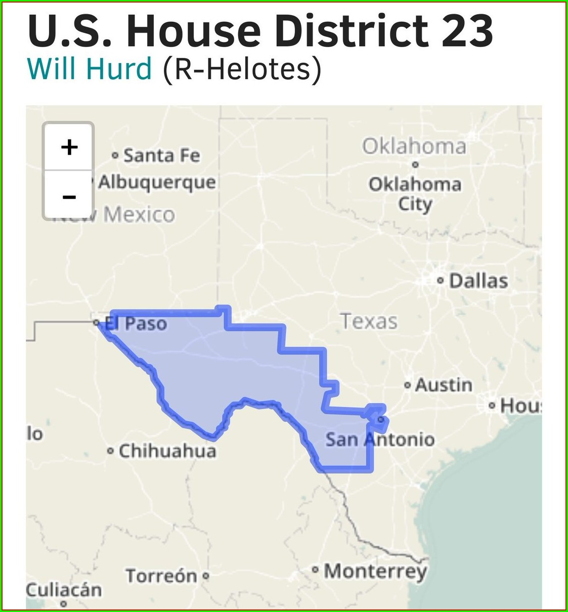 Will Hurd District Map