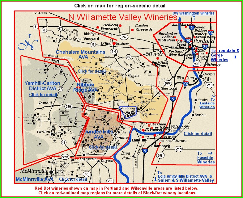 Willamette Valley Winery Map Pdf
