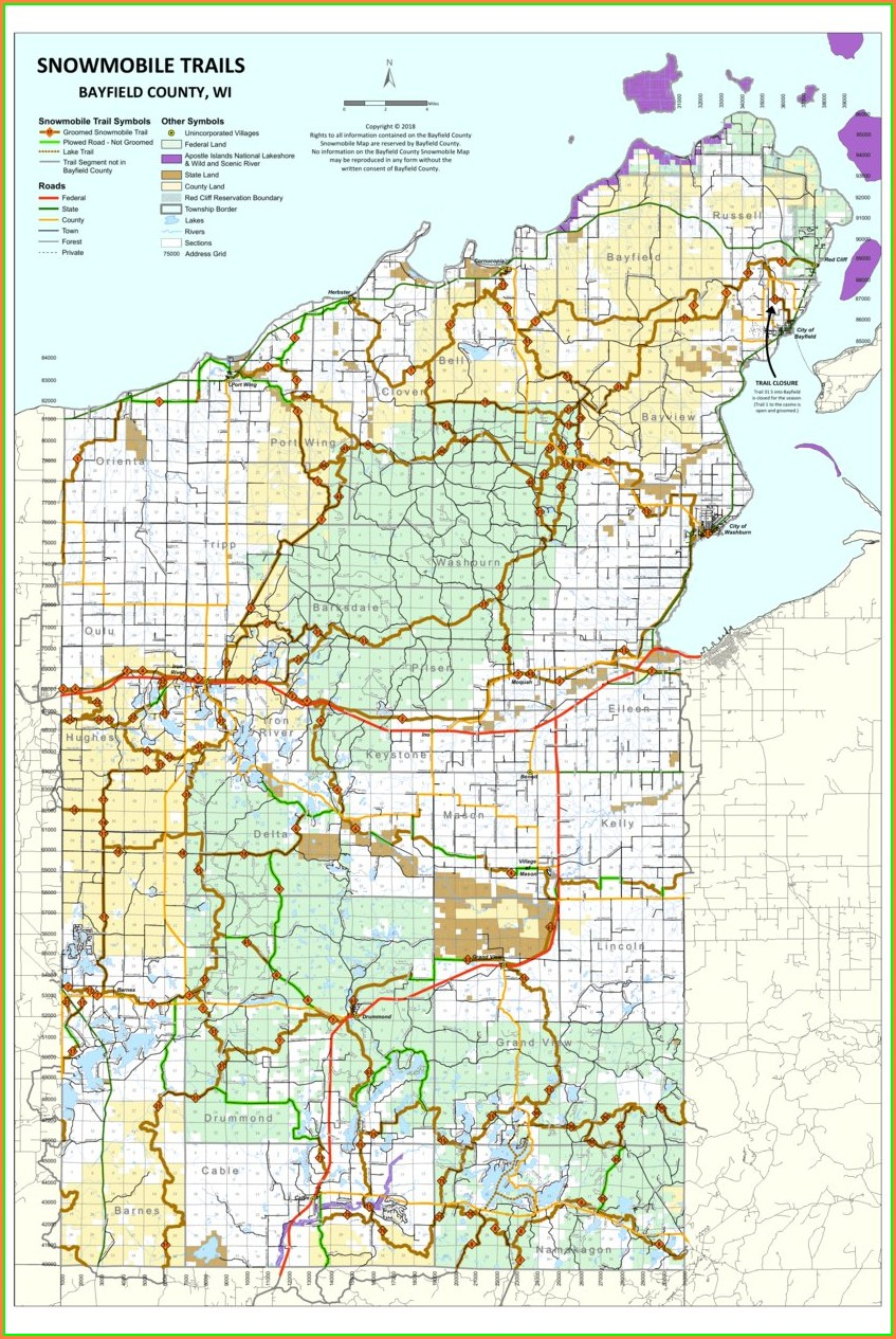 Wisconsin Snowmobile Trail Map App