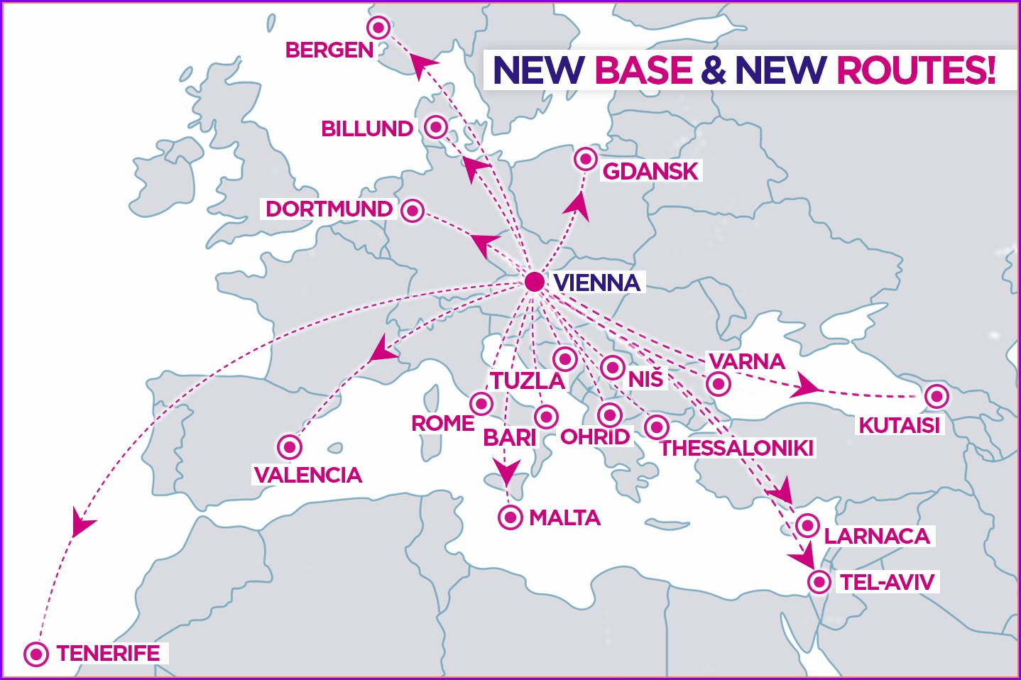 Wizz Air Flight Route Map