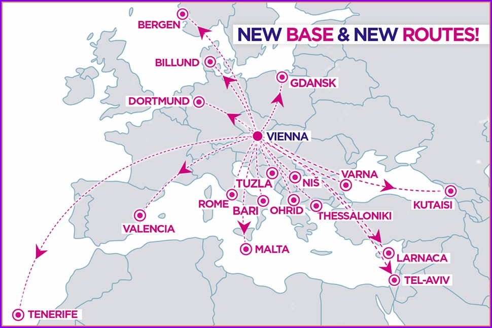 Wizz Air Route Map 2019