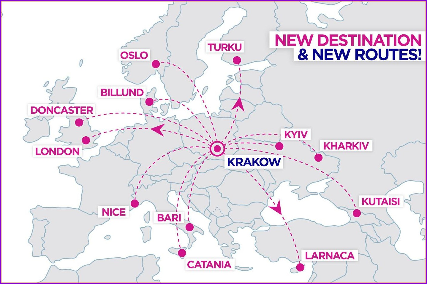 Wizz Air Route Map Europe