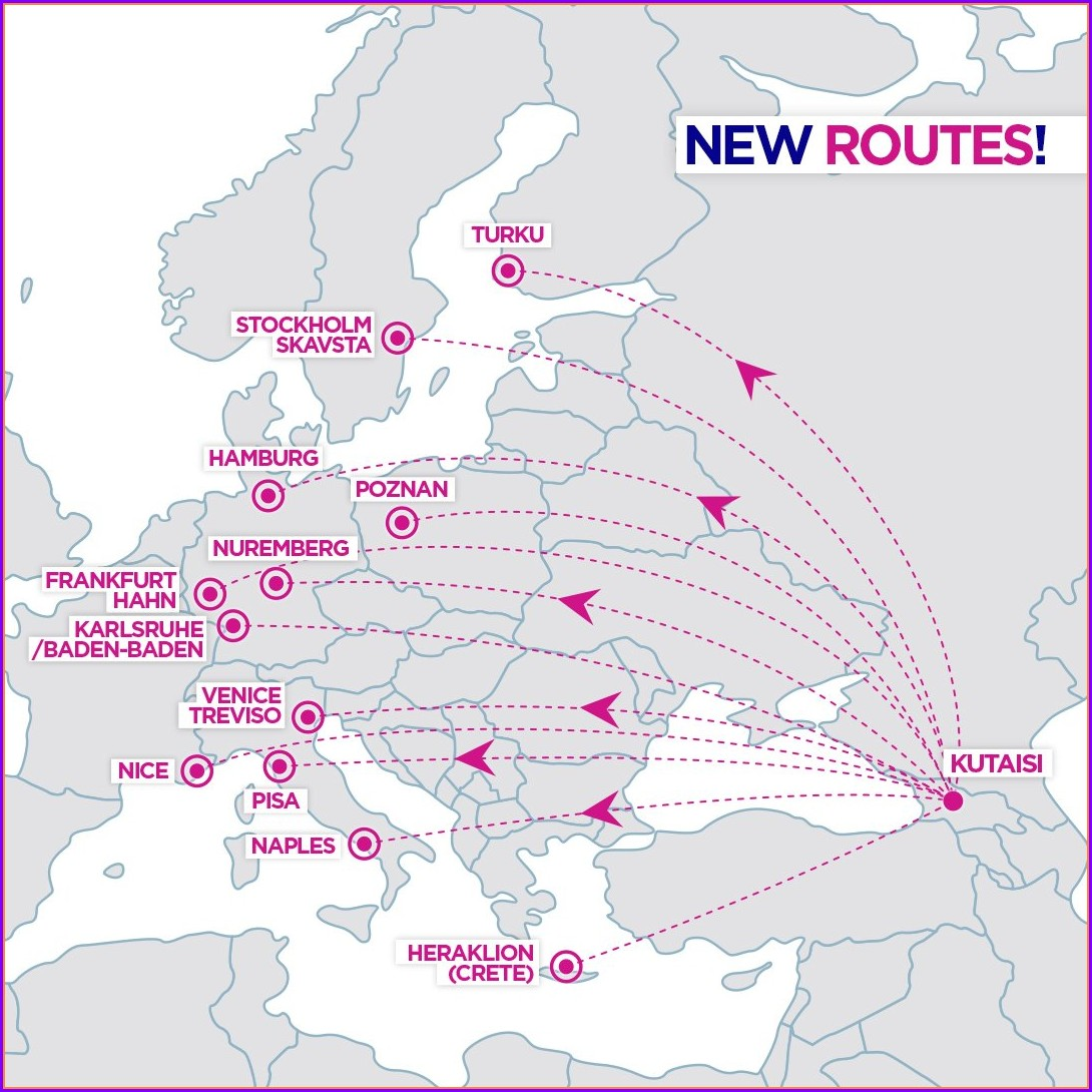 Wizz Air Route Map From Budapest