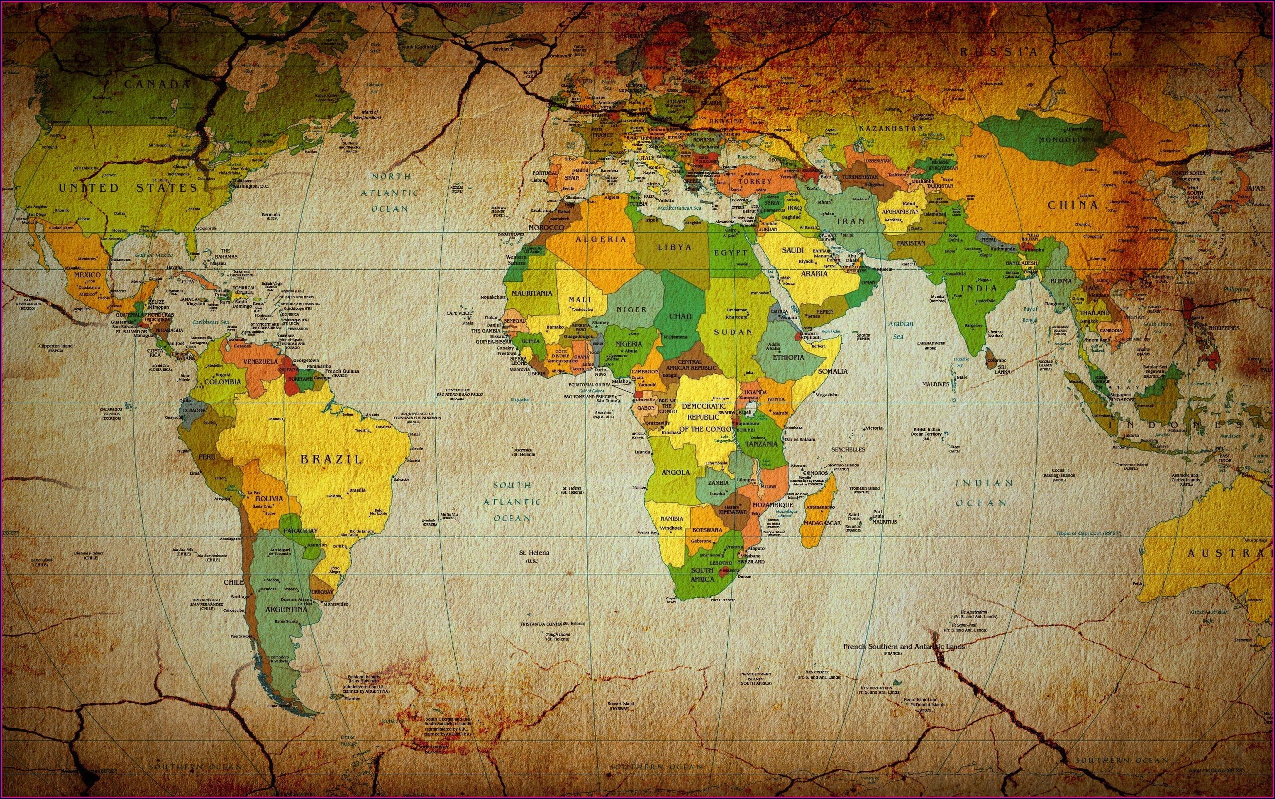 World Map Desktop Wallpaper 4k