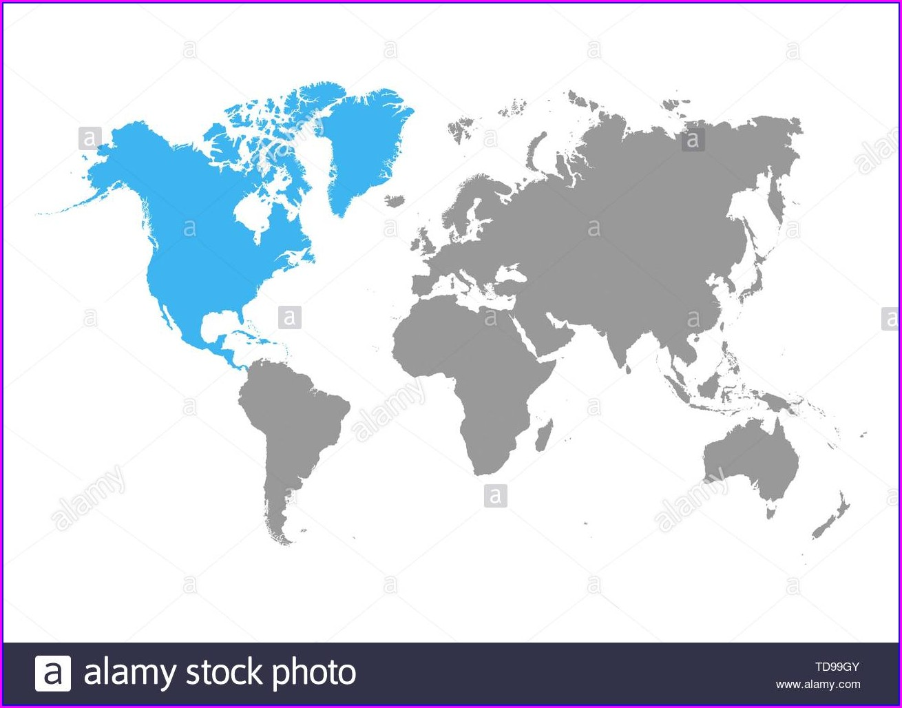 World Map Grey Color