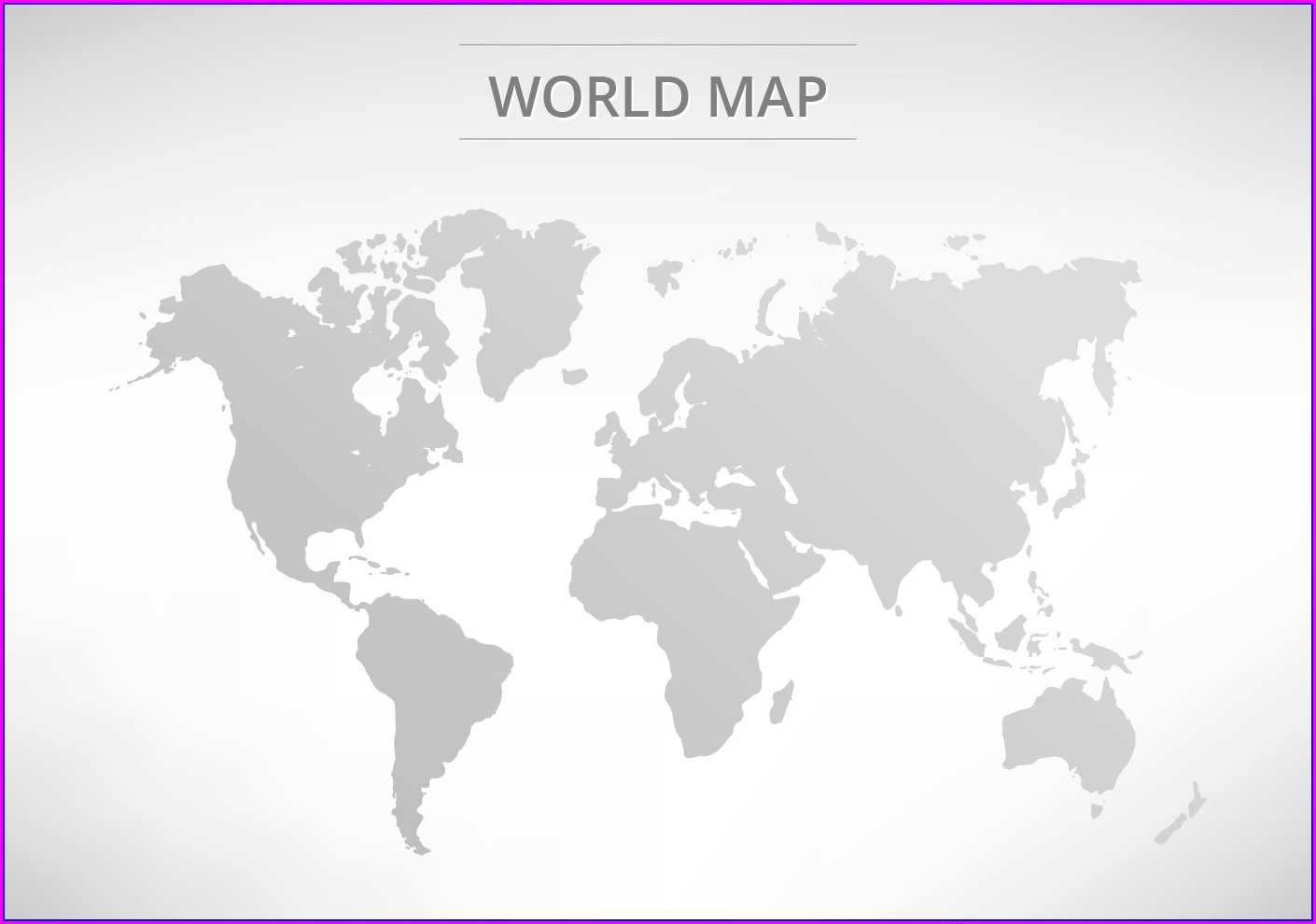 World Map Grey Vector