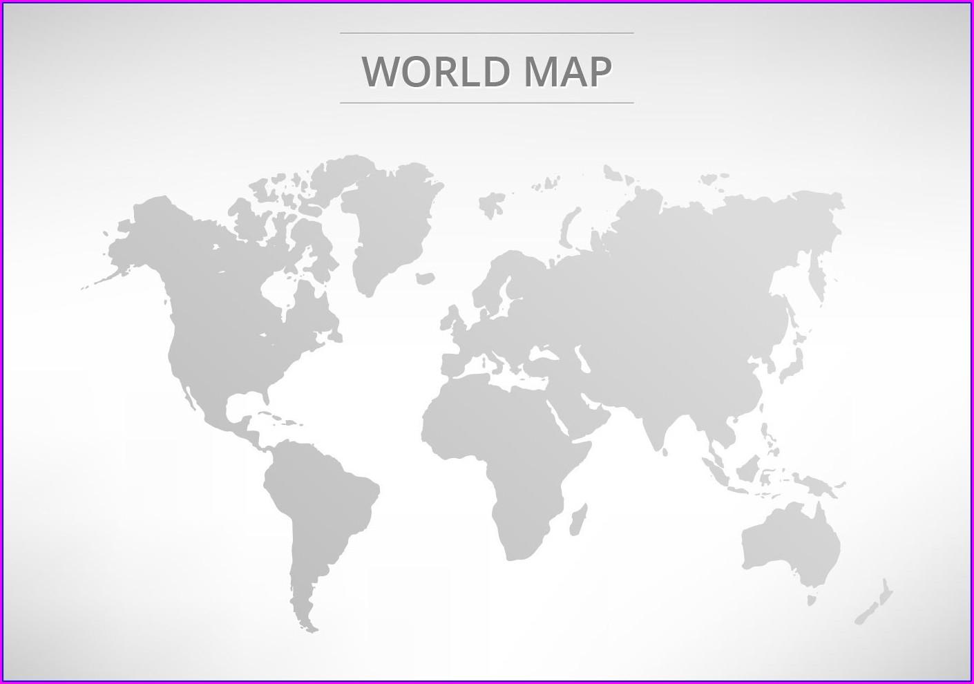 World Map Grey Vector