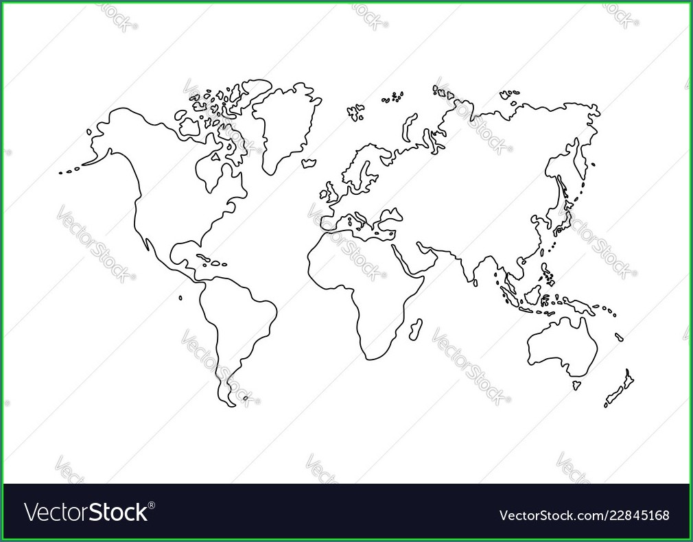 World Map Vector Outline