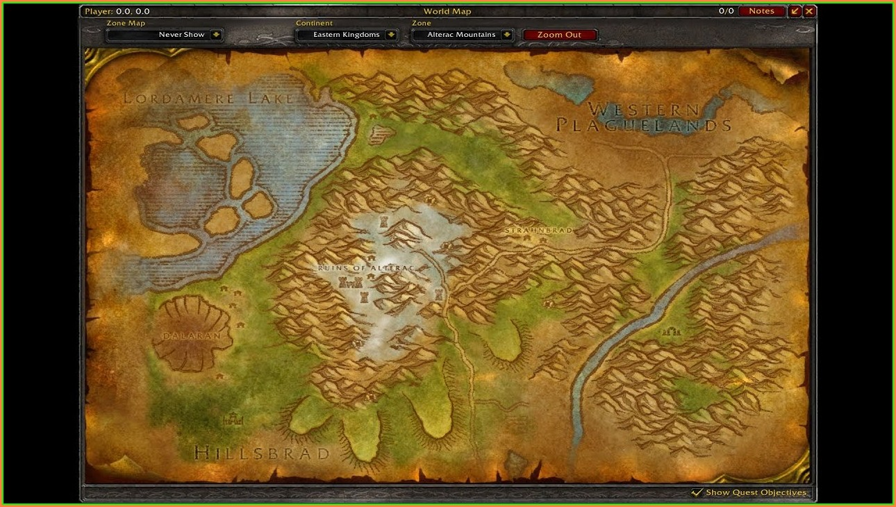 Wow Classic Eastern Kingdoms Map