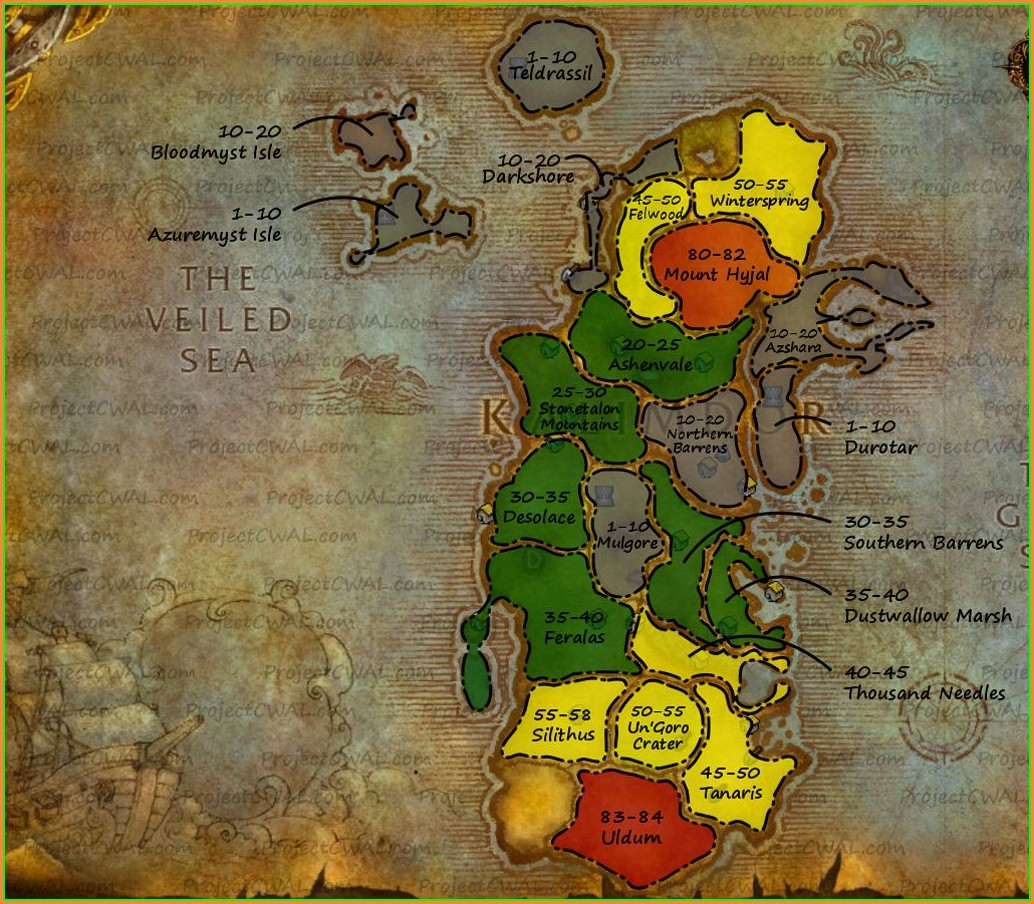 Wow Eastern Kingdoms Level Map