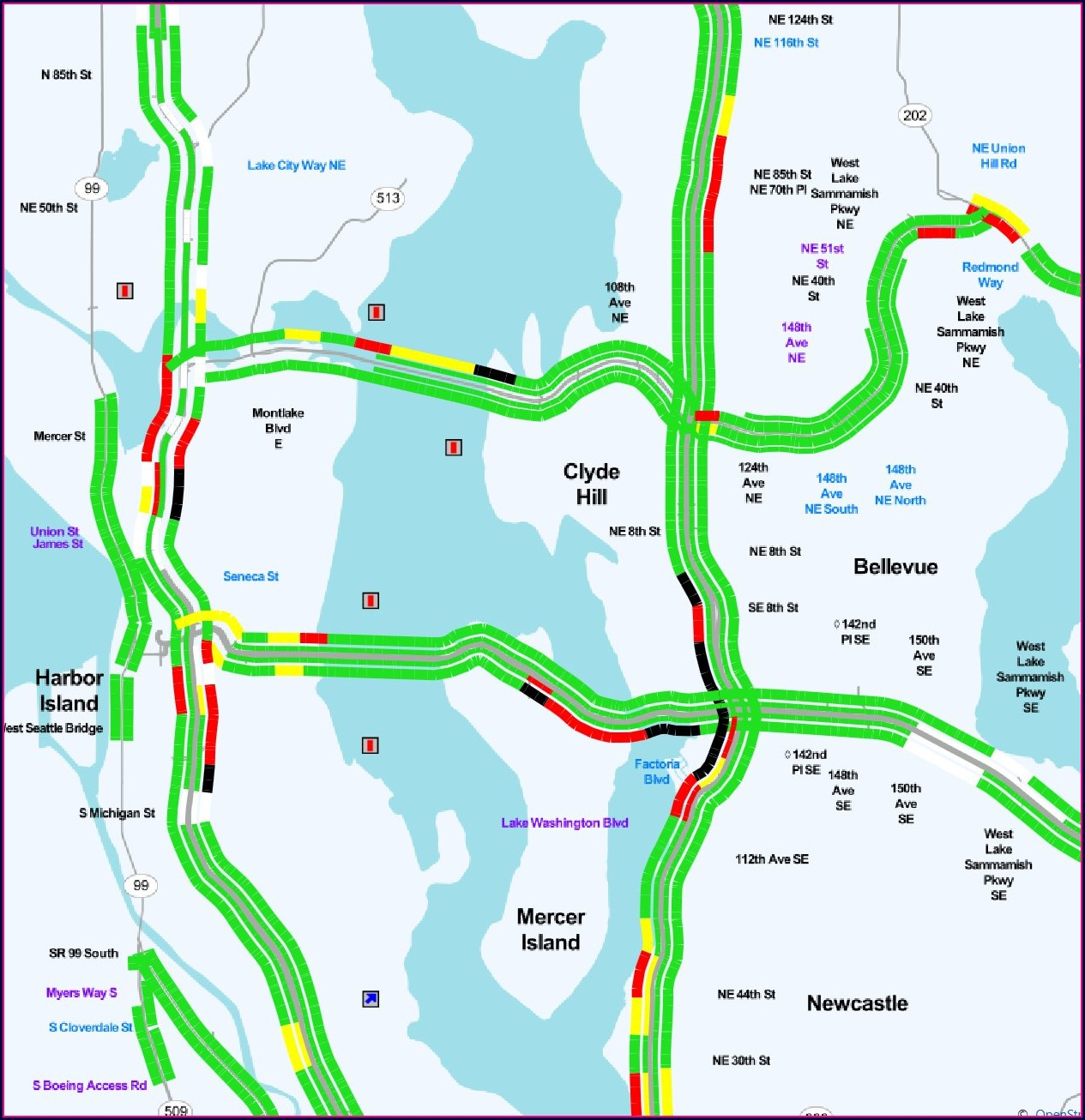 Wsdot Traffic Flow Map North