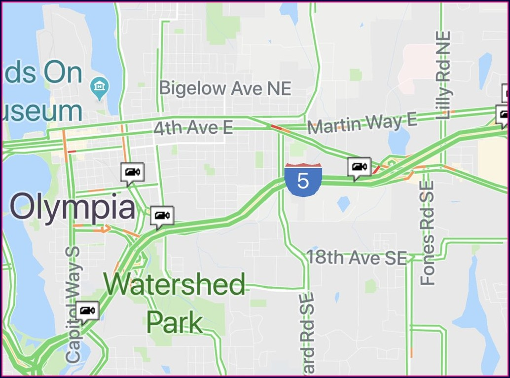 Wsdot Traffic Flow Map Olympia