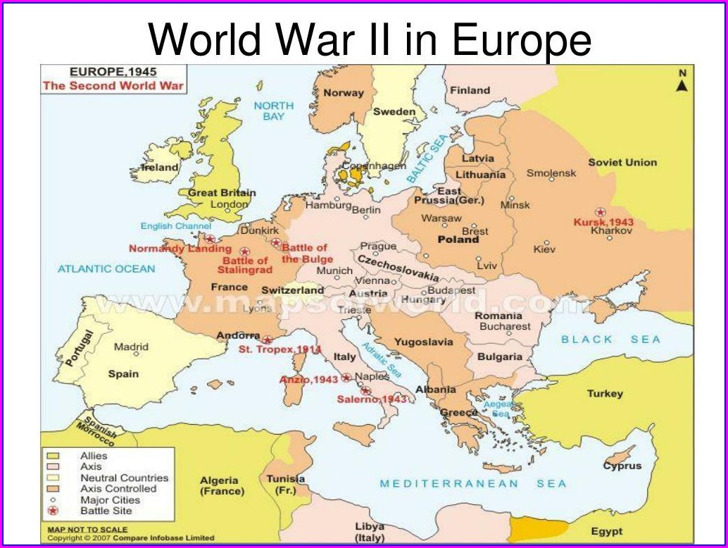 Ww2 Map Allies And Axis And Neutral