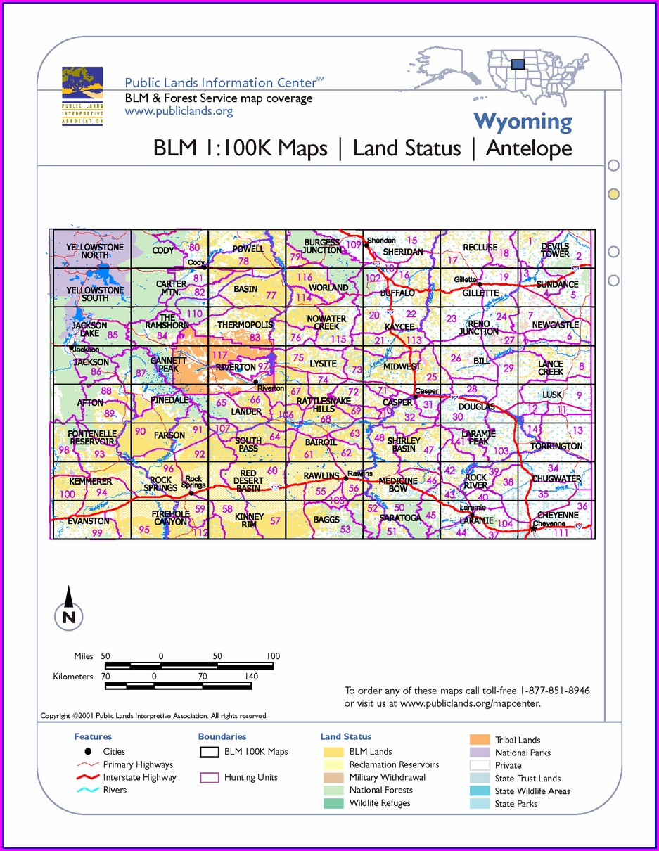 Wyoming Blm Maps For Sale